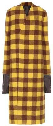 Rick Owens Plaid alpaca and wool coat