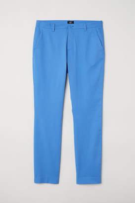 H&M Slim Fit Cotton Chinos - Blue