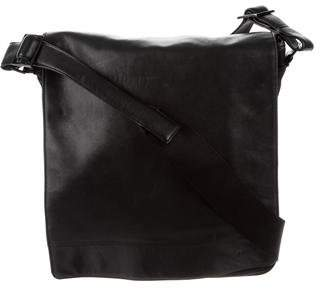Tumi Leather & Nylon Messenger Bag