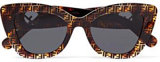 Fendi Cat-eye Printed Tortoiseshell Acetate Sunglasses - Brown