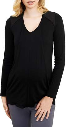 Maternal America V-Neck Maternity/Nursing Top