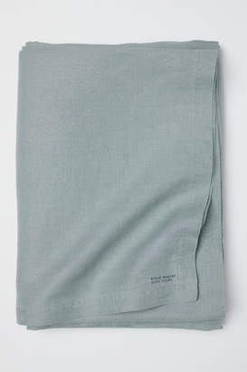 H&M Washed Linen Tablecloth - Green