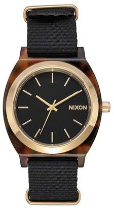 Nixon Time Teller Nylon Strap Watch, 40mm