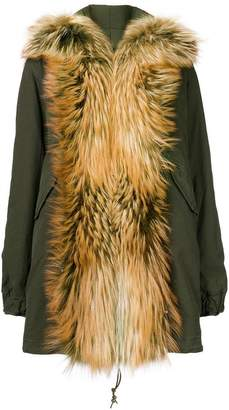 Mr & Mrs Italy fox fur shawl parka coat