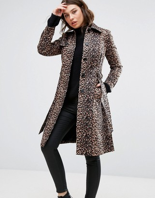 Helene Berman Leopard Print Trench Coat $182 thestylecure.com