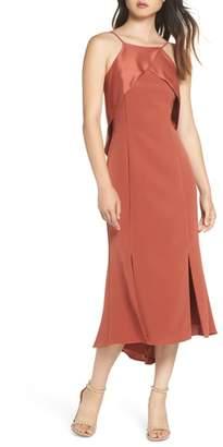 Harlyn Ruffle Back Halter Midi Dress