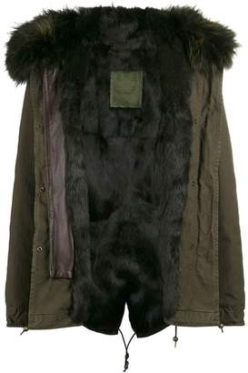 Mr & Mrs Italy Short Green Fur Lined Parka