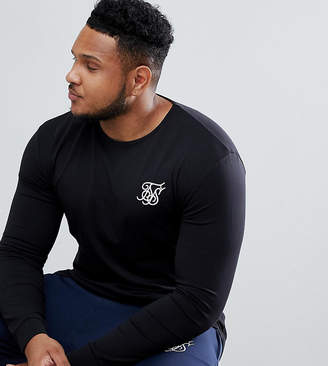 SikSilk long sleeve t-shirt in black exclusive to ASOS