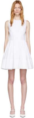 Alexander McQueen White Sleeveless Popeline Dress