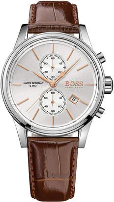 BOSS Hugo Men's Chronograph Jet Brown Leather Strap Watch 41mm 1513280
