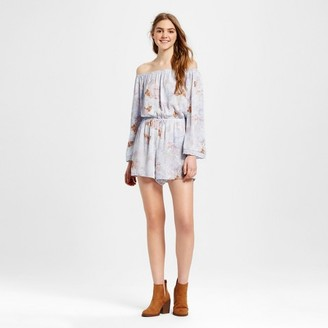 Mossimo Supply Co. Women's Off the Shoulder Romper Blue - Mossimo Supply Co. $24.99 thestylecure.com