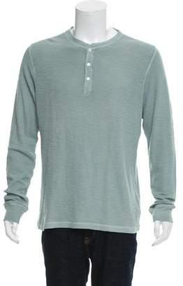 Ralph Lauren Black Label Knit Button-Up T-Shirt