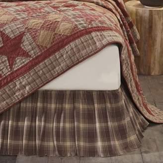Ashton & Willow Woodland Brown Rustic & Lodge Bedding Brickston Cotton Split Corners Inverted Pleats Plaid Twin Bed Skirt