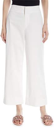 Alice + Olivia Knox High-Waist Wide-Leg Ankle Pants