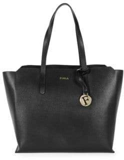 Furla Open-Top Leather Tote