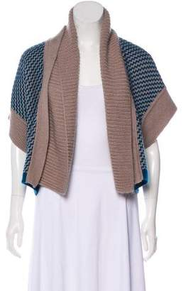 Missoni Short Sleeve Wool Cardigan