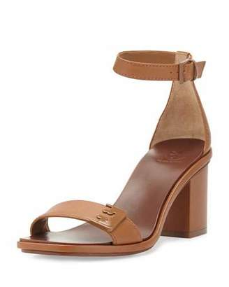 Tory Burch Gabrielle Leather City Sandal, Royal Tan $295 thestylecure.com