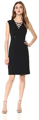 Calvin Klein Women's Sleeveless Lace up Dress