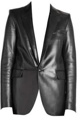 Saint Laurent Long Leather Blazer