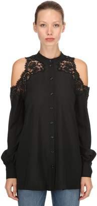 Ermanno Scervino Silk Cutout Lace Blouse