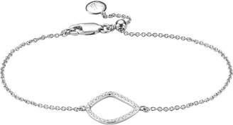 Monica Vinader Riva kite chain sterling silver pavé diamond bracelet