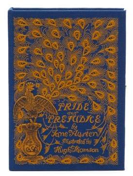 Olympia Le-Tan Olympia Le Tan Pride And Prejudice Embroidered Book Clutch Bag - Womens - Blue Multi
