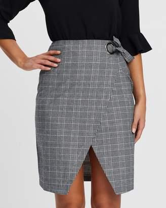Atmos & Here Jacy Wrap Midi Skirt