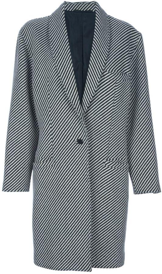 Versace Vintage striped coat