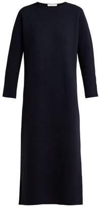 The Row Veronia Merino Wool Blend Dress - Womens - Navy