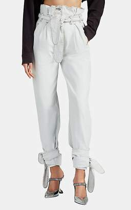 ATTICO RE/DONE + THE Women's Pleated High-Rise Jeans - White