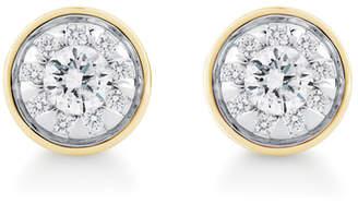 Masquerade 18ct Yellow Gold 0.49cttw Diamond Stud Earrings