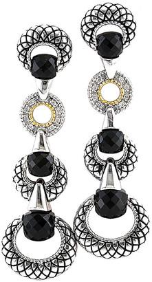 Candela Andrea Ecuestre 18K & Silver Diamond & Onyx Drop Earrings