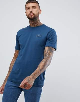 Nicce London logo t-shirt in blue