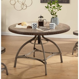 TMS Decker Adjustable Height Dining Table with Nailhead
