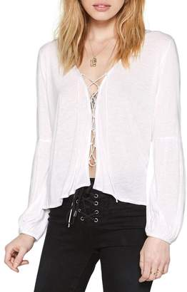 Amuse Society Spencer Lace-Up Top