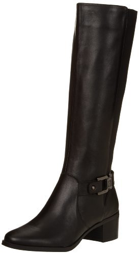 AK Anne Klein Women's Jodene Leather Riding Boot