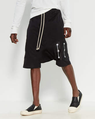 Rick Owens Drop Crotch Graphic Shorts