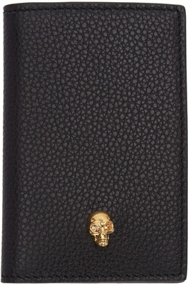 Alexander McQueen Black Leather Skull Wallet $215 thestylecure.com
