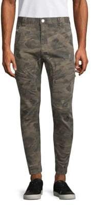 Camo-Print Skinny-Fit Flight Pants
