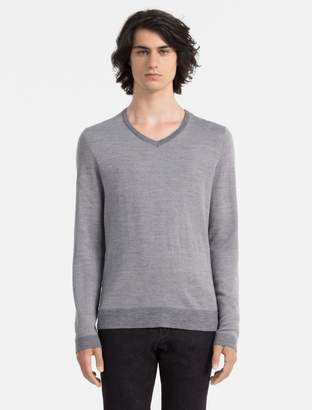 Calvin Klein slim fit contrast v-neck sweater