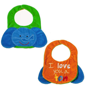 Evergreen Reversible Bib- Elephant