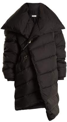 Marques'almeida - Asymmetric Quilted Down Coat - Womens - Black