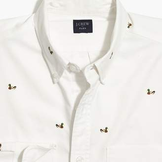 J.Crew Factory Slim-fit flex oxford printed shirt