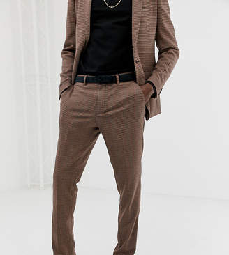 Heart & Dagger skinny fit suit pants in tattersall check