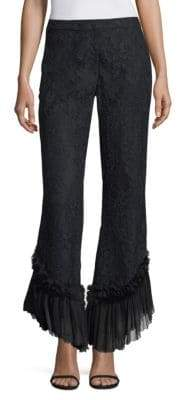 Alexis Cedric Lace Ruffle-Hem Pants