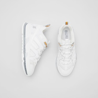 Burberry Nylon and Leather Union Sneakers