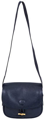 One Kings Lane Vintage HermAs Navy Epsom Shoulder Bag - Vintage Lux