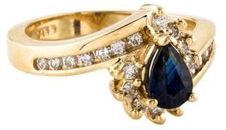 Ring 14K Sapphire & Diamond