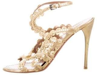 Alaia Metallic Laser Cut Sandals