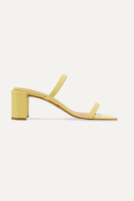 BY FAR Tanya Leather Mules - Bright yellow